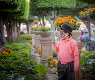 Boy, Day of the Dead, Mexico Royalty Free Stock Images
