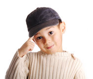 Boy with denim cap Stock Photo