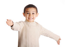 Boy with denim cap Royalty Free Stock Photo