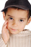 Boy with denim cap Royalty Free Stock Image