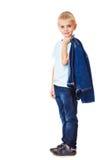 Boy in denim clothing Stock Image