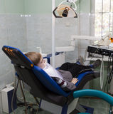 Boy in the dental office Royalty Free Stock Photography