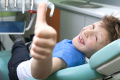 Boy in a dental surgery Stock Photos