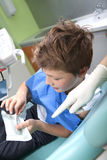 Boy in a dental surgery Stock Image