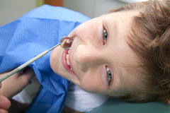 Boy in a dental surgery Stock Photography