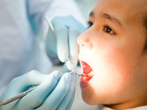 Boy at the dentist Royalty Free Stock Photography