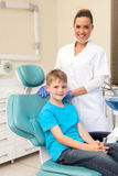 boy on dentist chair Royalty Free Stock Photo