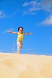 Boy in the desert Stock Image