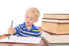 Boy at a desk Stock Photos