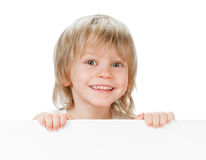 Boy with desk Royalty Free Stock Image
