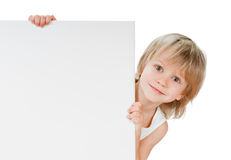 Boy with desk Stock Photo