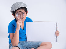 Boy detective Royalty Free Stock Photography