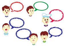 Boy With Dialogue Balloon Stock Photo