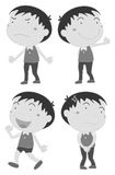Boy with different emotions Royalty Free Stock Photo