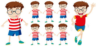 Boy with different facial expressions Royalty Free Stock Photography