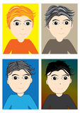 Boy Different Hair Style_eps Royalty Free Stock Photography