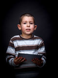 Boy with digital tablet Royalty Free Stock Photo