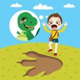 Boy Dinosaur Track Stock Images