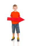 Boy direction arrow Royalty Free Stock Photography