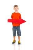 Boy direction arrow Royalty Free Stock Photography