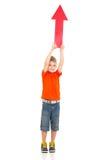 Boy direction arrow Royalty Free Stock Photos