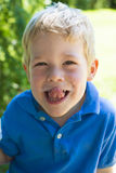 Boy with dirty face Royalty Free Stock Photo
