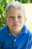 Boy with dirty face Royalty Free Stock Photos