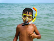 Boy diver Royalty Free Stock Image