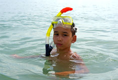 Boy diver Stock Images