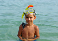 Boy diver royalty free stock photos