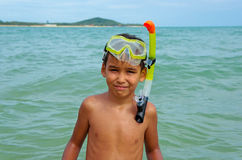 Boy diver Royalty Free Stock Photo
