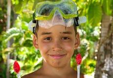 Boy diver after swim Stock Image