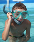 Boy with diving glasses Royalty Free Stock Image
