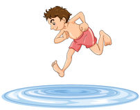 A boy diving into water Royalty Free Stock Photo