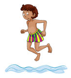 A boy diving into water Royalty Free Stock Photos