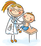 Boy at the doctor. Little boy at the doctor Stock Photo