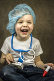 Boy doctor Royalty Free Stock Images