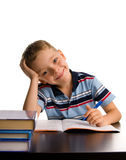 Boy does lessons Stock Photo