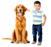 Boy with a dog Stock Photos