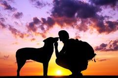 The boy with a dog Stock Photos