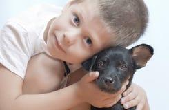 Boy with dog Royalty Free Stock Photo