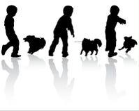 Boy with dog Stock Image