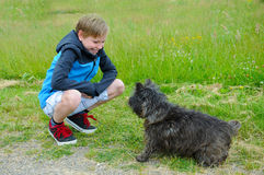Boy and dog Royalty Free Stock Images