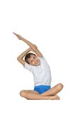 Boy doing exercises Stock Images