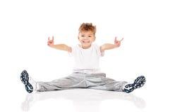 Boy doing gymnastics Royalty Free Stock Image