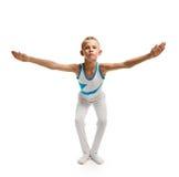 Boy doing gymnastics Stock Photo