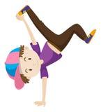 Boy doing hand flipping. Illustration stock illustration