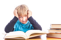 Boy doing homework Royalty Free Stock Photo