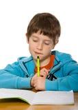 Boy doing homework Royalty Free Stock Images