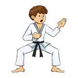 Boy Doing Karate Practise Stock Image